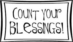 """An image that says """"Count your blessings!"""""""