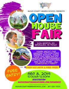 Bucks County Hebrew School FREE Open House Fair