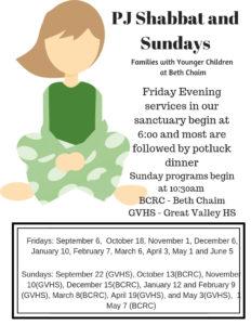 Beth Chaim Reform Congregation: PJ Sundays